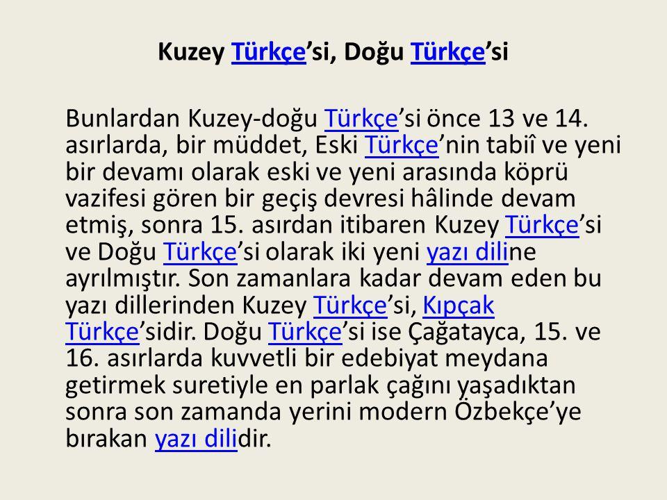 Batı TürkçesiTürkçe Batı Türkçesi'ne gelince, bu yazı dili 12.