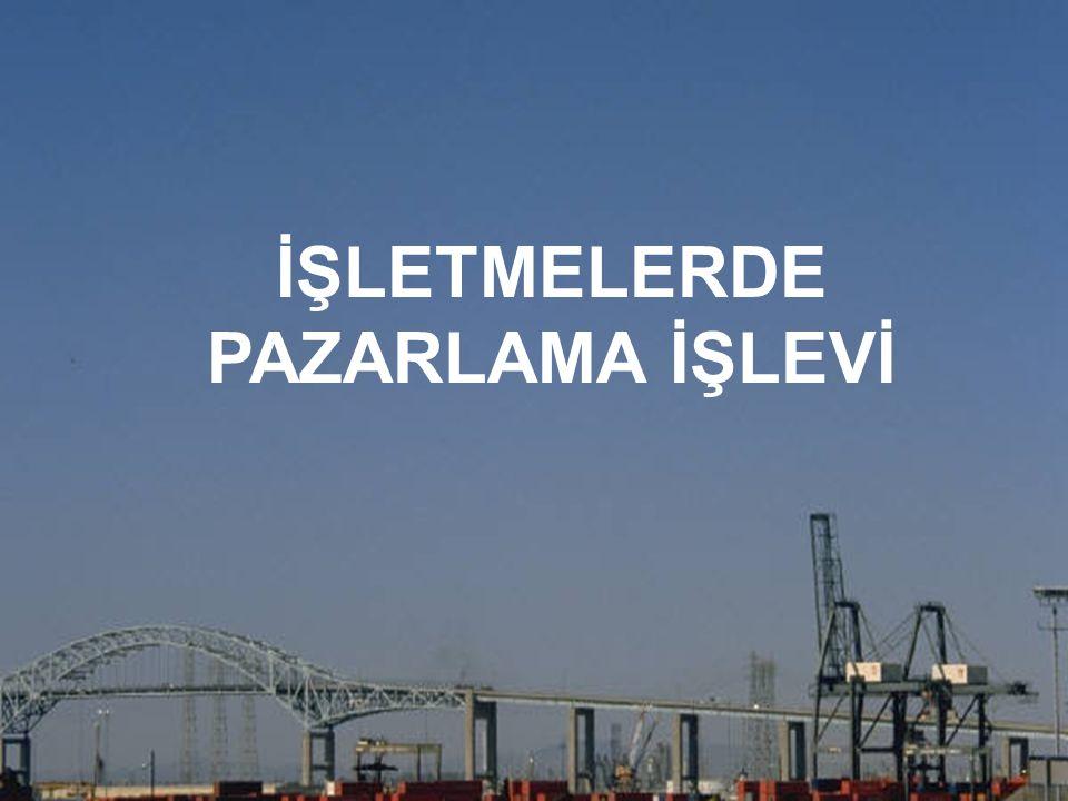 İŞLETMELERDE PAZARLAMA İŞLEVİ