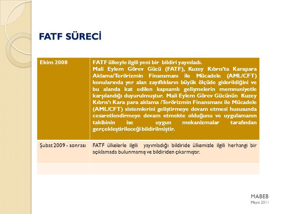 Ekim 2008FATF ülkeyle ilgili yeni bir bildiri yayınladı.