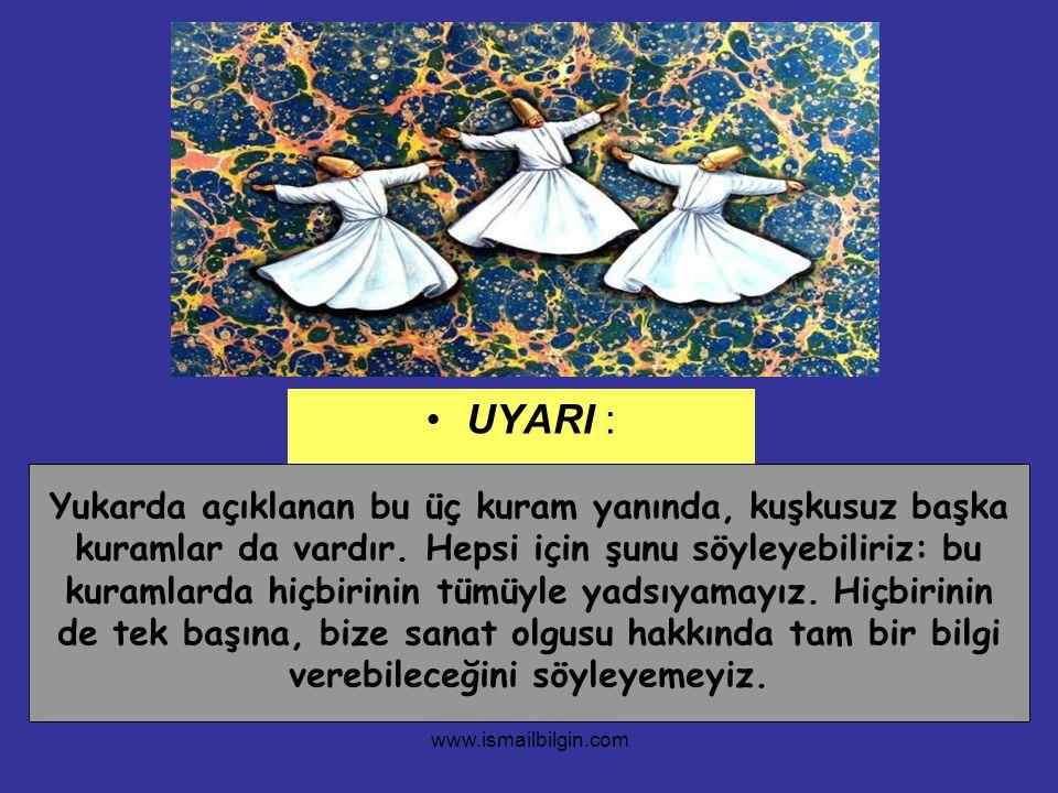www.ismailbilgin.com UYARI : Yukarda açıklanan bu üç kuram yanında, kuşkusuz başka kuramlar da vardır. Hepsi için şunu söyleyebiliriz: bu kuramlarda h