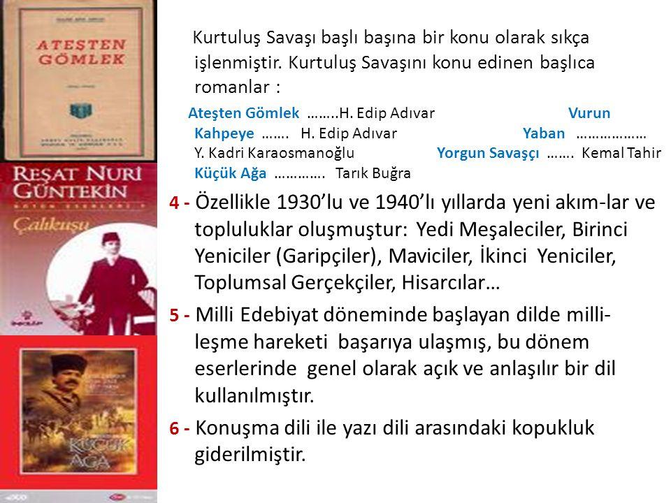 AHMET HAMDİ TANPINAR (1901 — 1962) Hikaye, roman, deneme, makale yazarı, şair; bir edebiyat tarihçisidir Eserlerinde Doğu-Batı çatışması, rüya ve zaman kavramları, geçmişe özlem , mimari ve musiki öne çıkar.