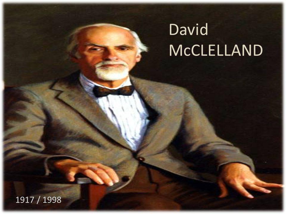 David McCLELLAND 1917 / 1998