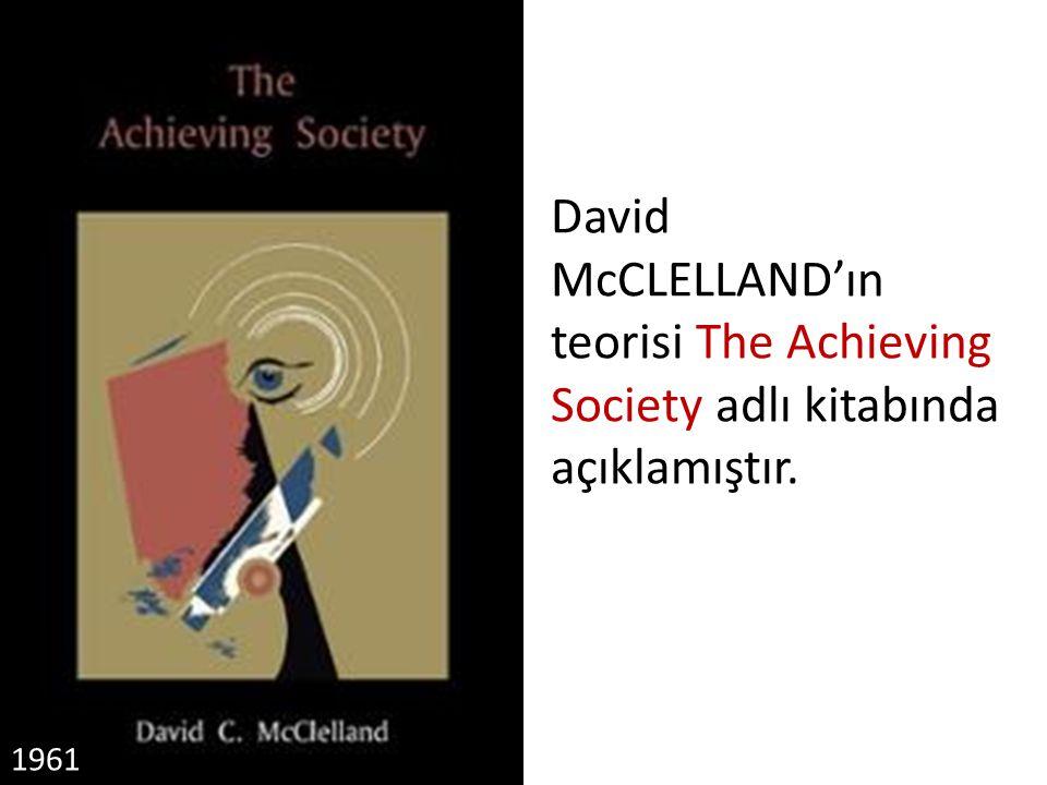 1961 David McCLELLAND'ın teorisi The Achieving Society adlı kitabında açıklamıştır.