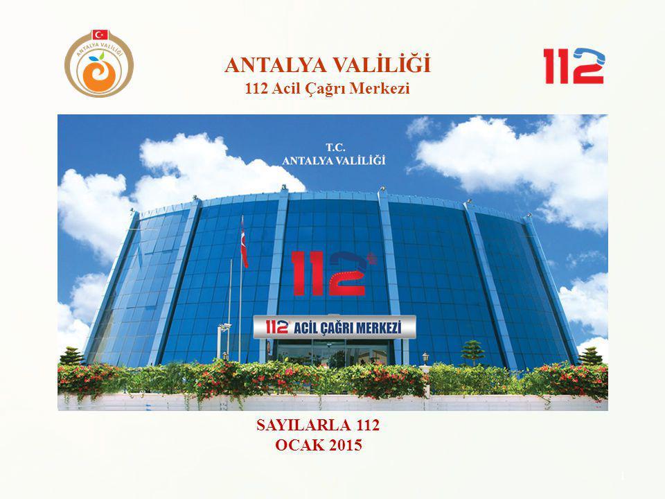 ANTALYA VALİLİĞİ 112 Acil Çağrı Merkezi SAYILARLA 112 OCAK 2015 1