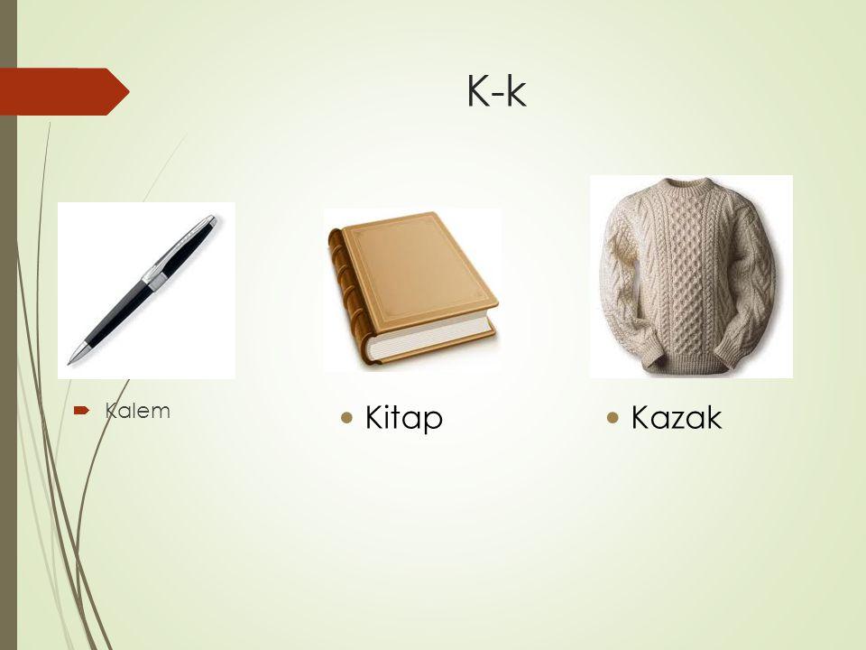 K-k  Kalem Kitap Kazak