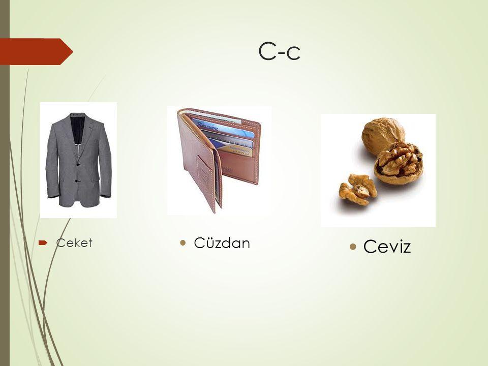 C-c  Ceket Cüzdan Ceviz