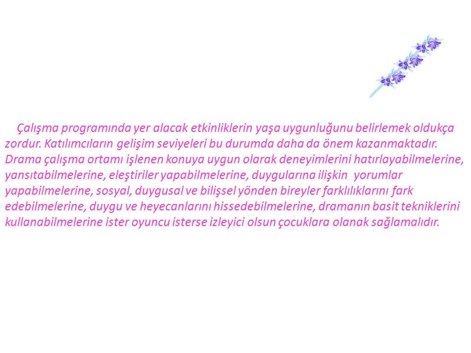  OKVURAN A, Yaratıcı Drama Eğitiminin Empatik Beceri ve Empatik Eğilim Düzeylerine Etkisi, Yüksek Lisans Tezi, Ankara 1993.