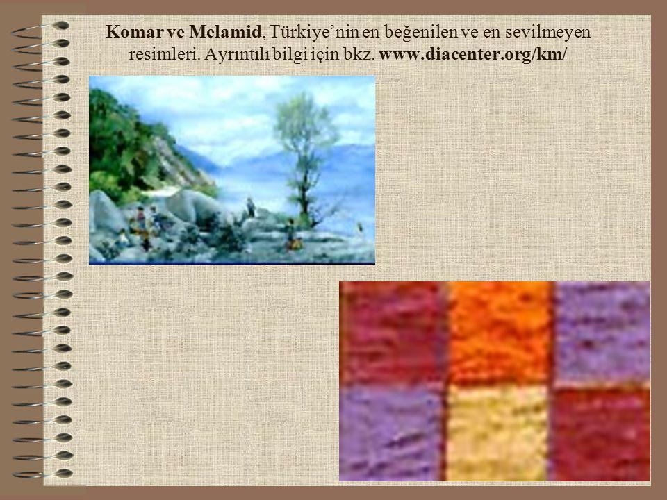 Komar ve Melamid, Türkiye'nin en beğenilen ve en sevilmeyen resimleri. Ayrıntılı bilgi için bkz. www.diacenter.org/km/