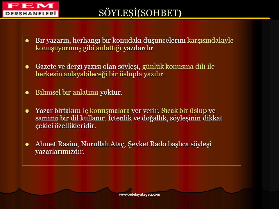 ÖSYS'de Fıkra 1985-ÖYS 1984-ÖYS CEVAP: C CEVAP: B www.edebiyatagaci.com