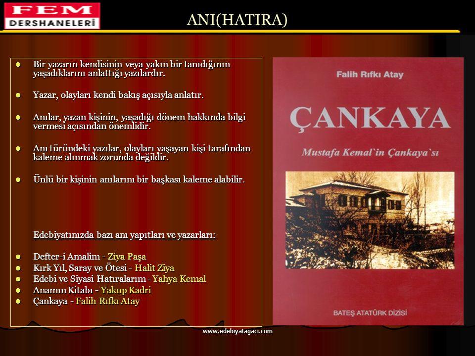 ÖSYS'de Eleştiri 2006-ÖSS 1989-ÖYS CEVAP: C CEVAP: B www.edebiyatagaci.com