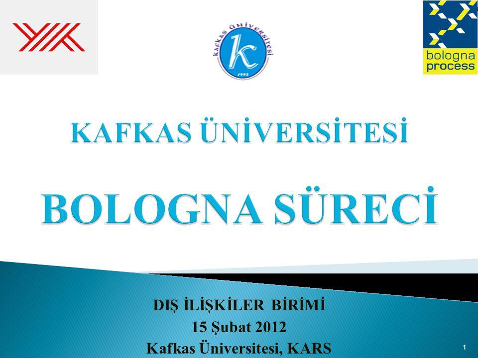 DIŞ İLİŞKİLER BİRİMİ 15 Şubat 2012 Kafkas Üniversitesi, KARS 1
