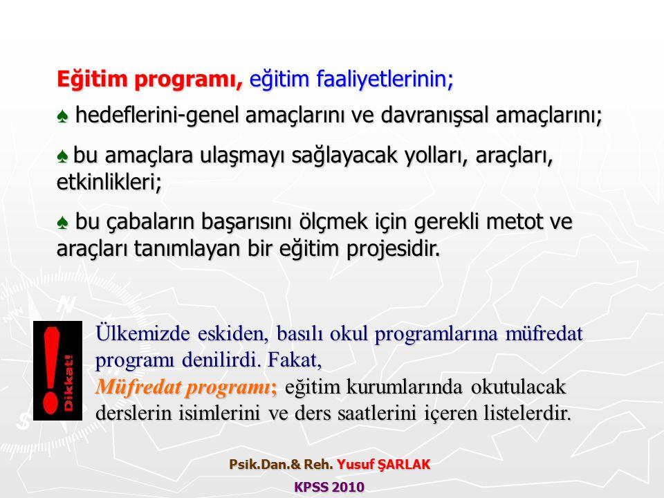 EĞİTİM PROGRAMININ YARARLARI; 1.Eğitim faaliyetlerine yön verir.