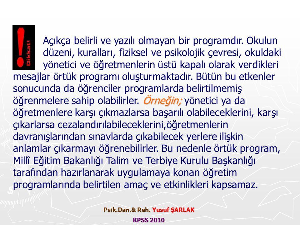 Psik.Dan.& Reh. Yusuf ŞARLAK KPSS 2010