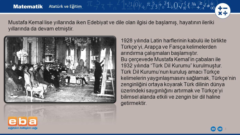 3 1928 yılında Latin harflerinin kabulü ile birlikte Türkçe'yi, Arapça ve Farsça kelimelerden arındırma çalışmaları başlamıştır. Bu çerçevede Mustafa