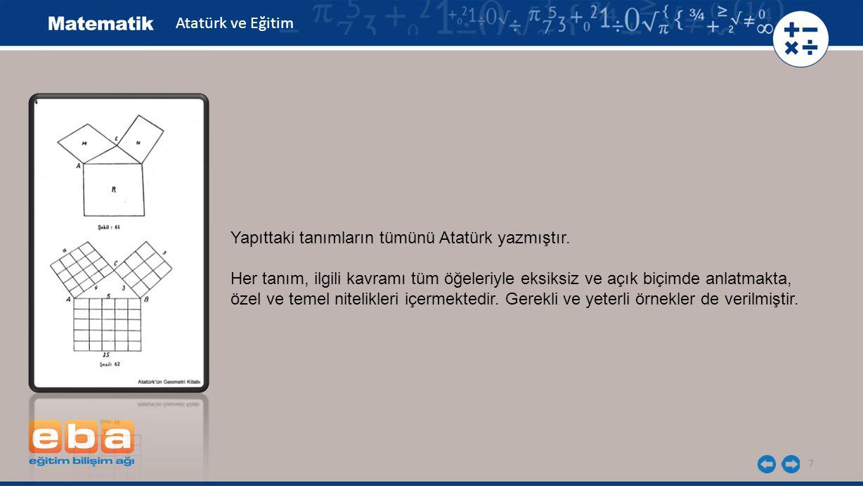 7 Yapıttaki tanımların tümünü Atatürk yazmıştır. Her tanım, ilgili kavramı tüm öğeleriyle eksiksiz ve açık biçimde anlatmakta, özel ve temel nitelikle