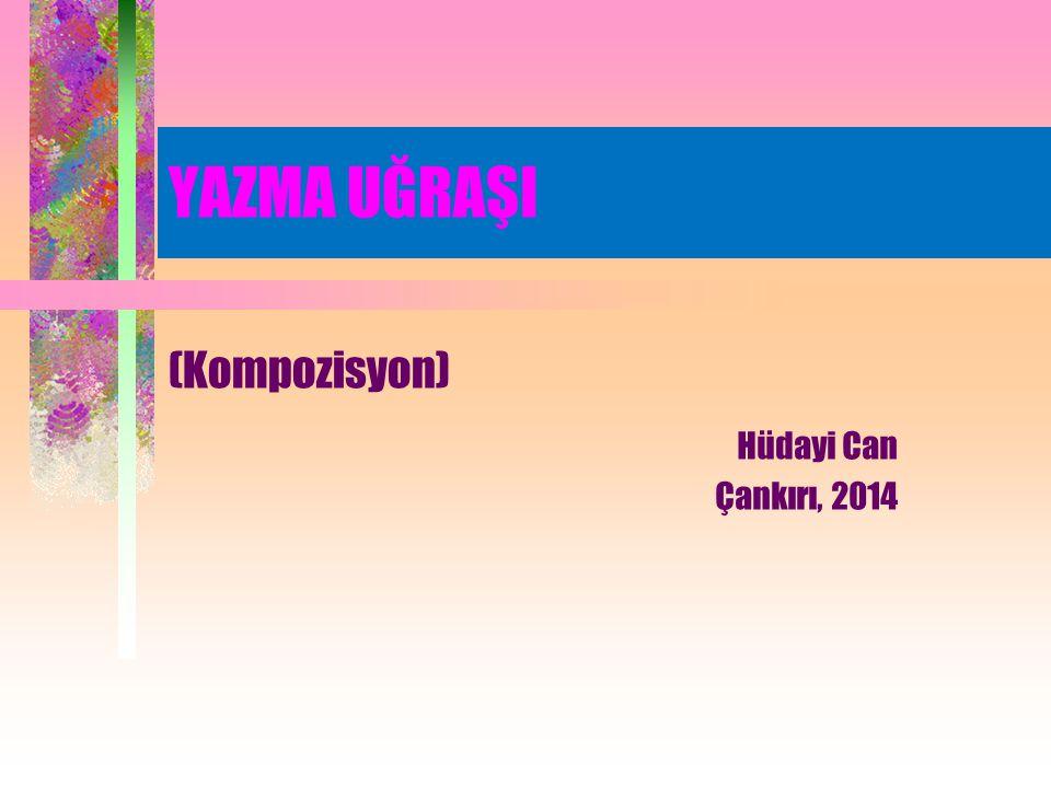 kompozisyon Fr.composition a. 1.
