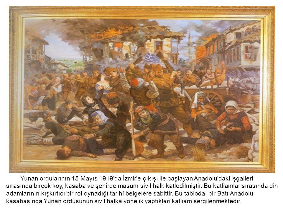 Yunan ordularının 15 Mayıs 1919'da İzmir'e çıkışı ile başlayan Anadolu'daki işgalleri sırasında birçok köy, kasaba ve şehirde masum sivil halk katledi