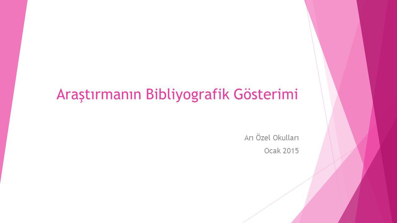  Antoloji'den alınmış tek bir çalışma Alıntı yapılan Çalışmanın Yazarının Soyadı, Adı. Alıntının Başlığı .