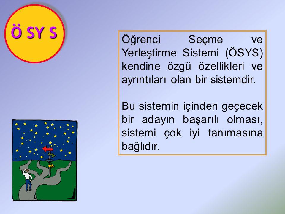 Öğrenci Seçme ve Yerleştirme Sistemi (ÖSYS) kendine özgü özellikleri ve ayrıntıları olan bir sistemdir.
