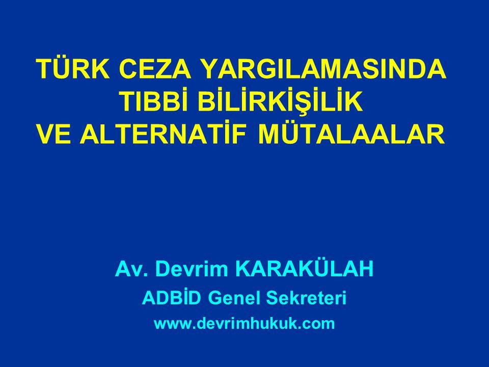 TÜRK CEZA YARGILAMASINDA BİLİRKİŞİLİK Türk Ceza yargılamasında ancak, hakimlik mesleğinin gerektirdiği genel ve hukuki bilgi ile çözülmesi olanaklı olmayan, çözümü uzmanlığı, özel veya teknik bilgiyi gerektiren hallerde bilirkişinin oy ve görüşüne başvurulabilir.