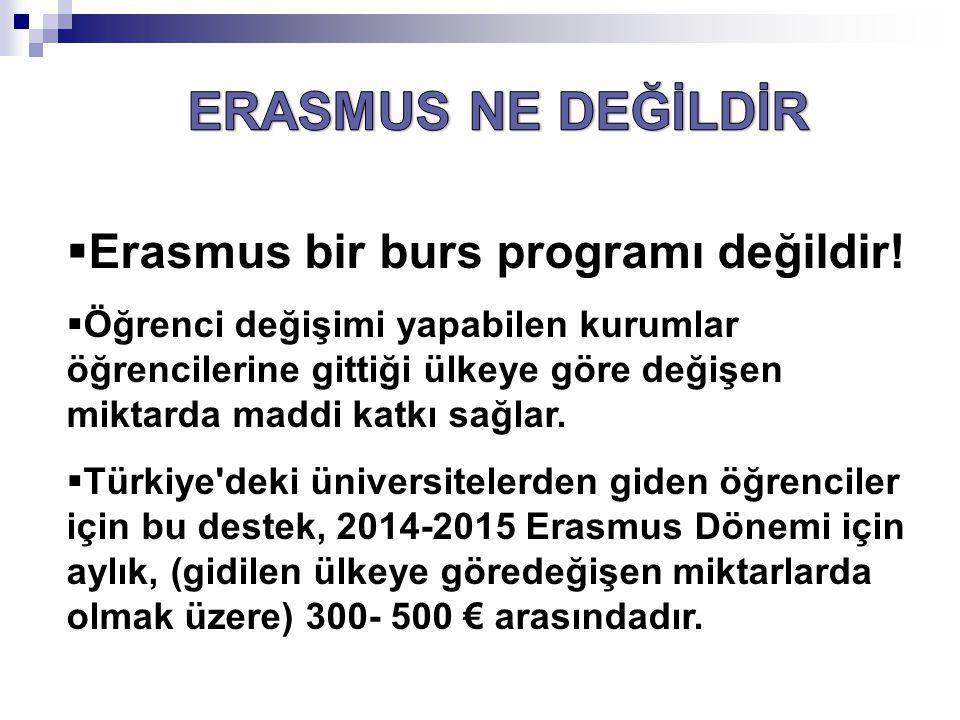 Öğrenciler birden fazla kez Erasmus değişim programından yararlanabilir.