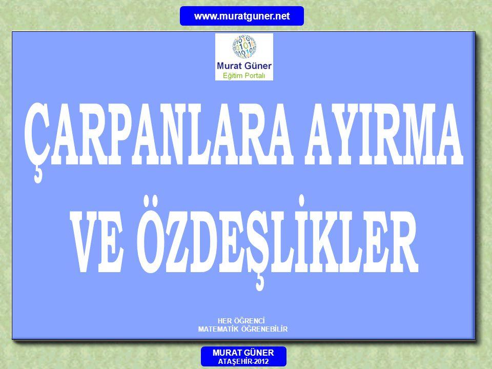 www.muratguner.net Ana Sayfa ÖRNEK 1- 2- 3-