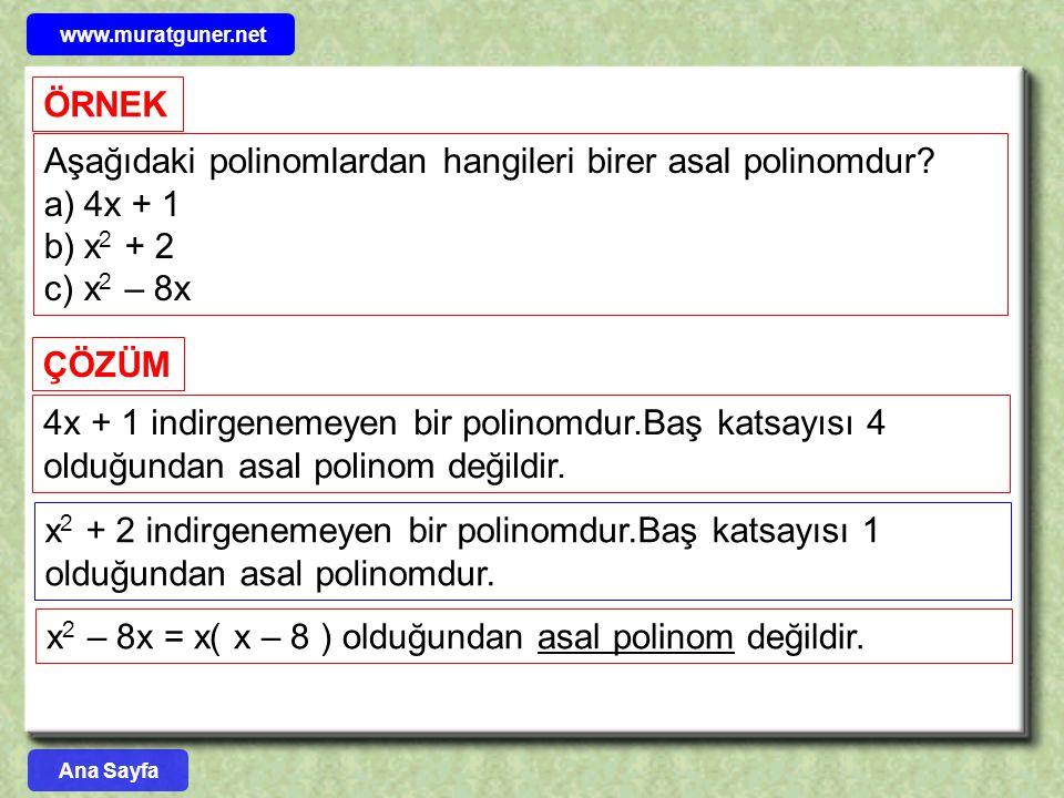 POLİNOMLARI ÇARPANLARA AYIRMA YÖNTEMLERİ 1 – ORTAK ÇARPAN PARANTEZİNE ALMA YÖNTEMİ A.( x + y ) biçimindeki çarpma işlemini yapmak için çarpmanın toplama üzerine dağılma özelliği kullanılır.