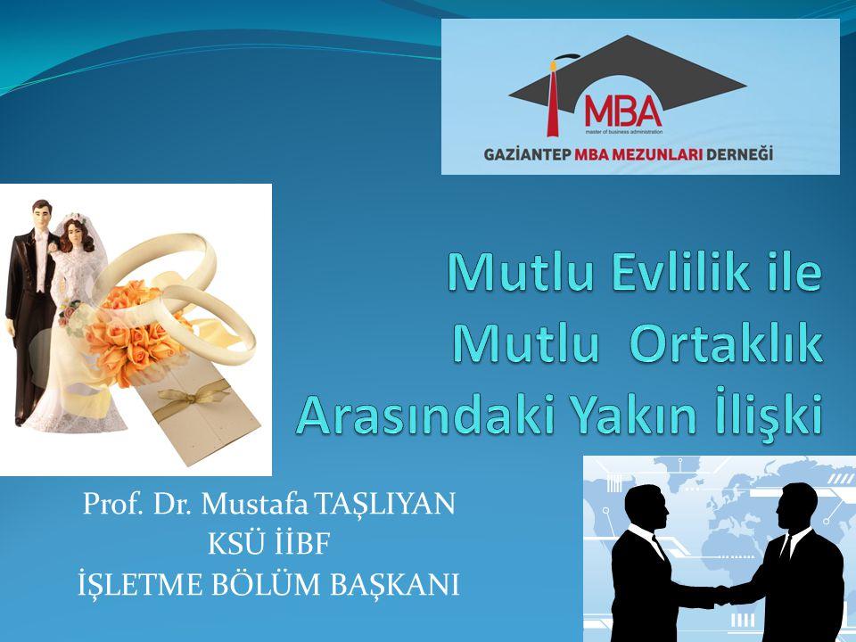Prof. Dr. Mustafa TAŞLIYAN KSÜ İİBF İŞLETME BÖLÜM BAŞKANI