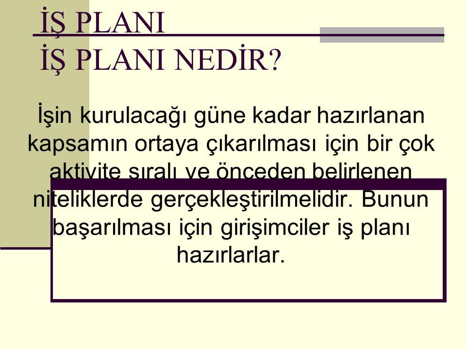 İŞ PLANI NEDİR.