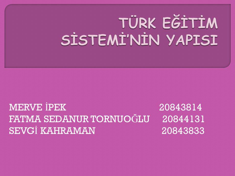 MERVE İ PEK 20843814 FATMA SEDANUR TORNUO Ğ LU 20844131 SEVG İ KAHRAMAN 20843833