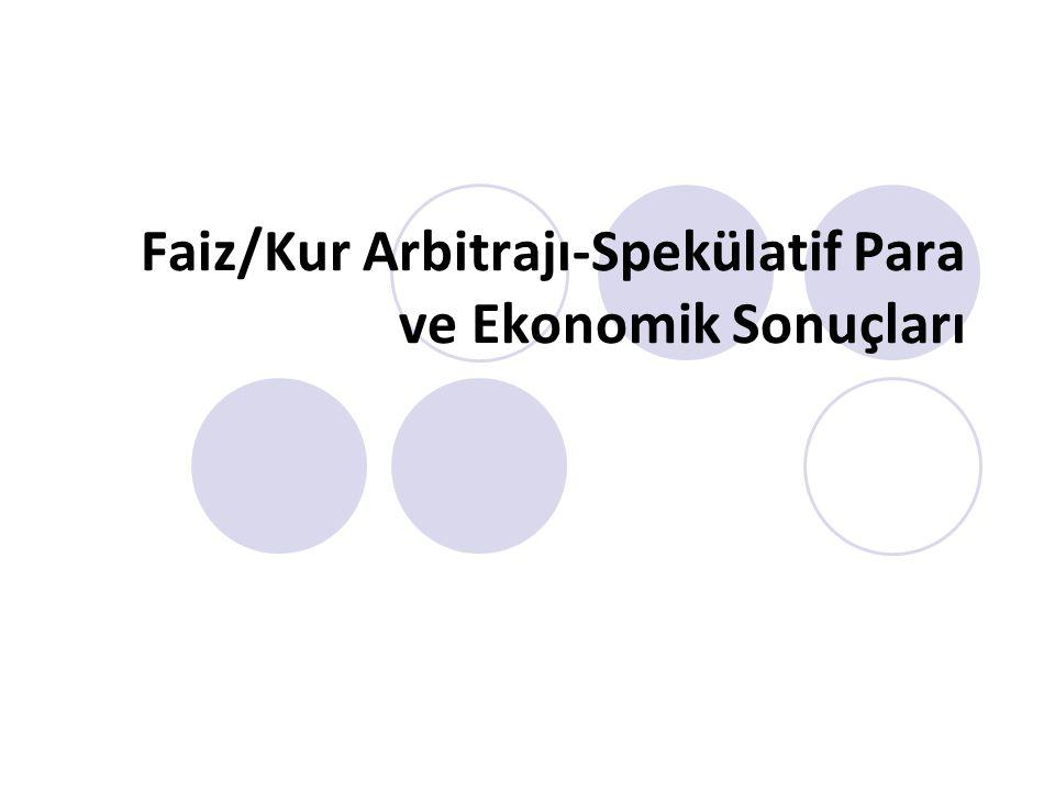 Faiz/Kur Arbitrajı-Spekülatif Para ve Ekonomik Sonuçları