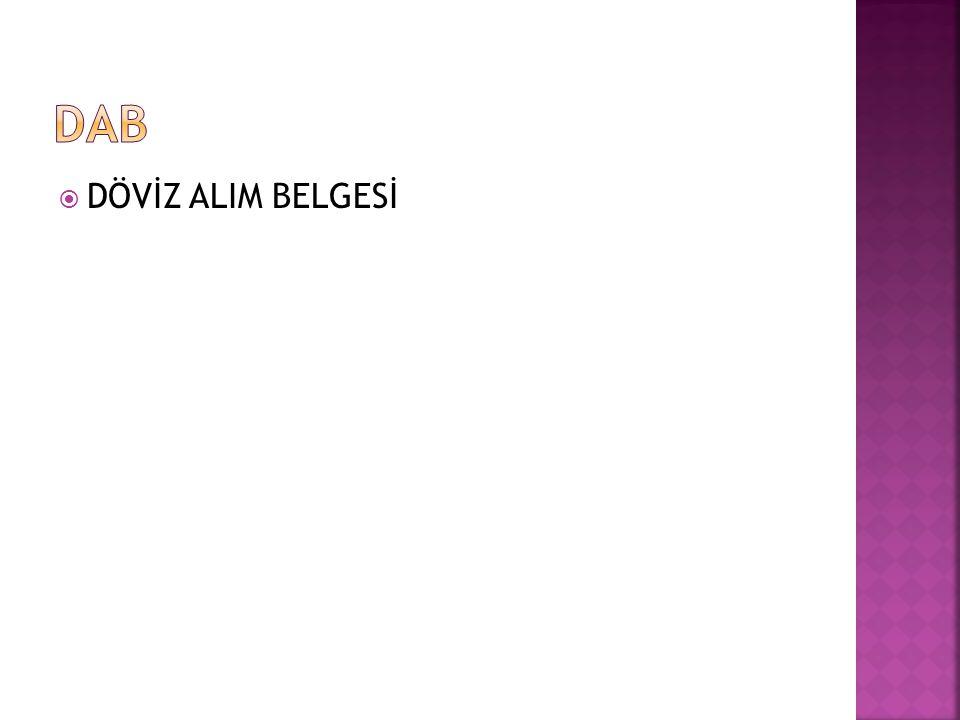  DÖVİZ ALIM BELGESİ