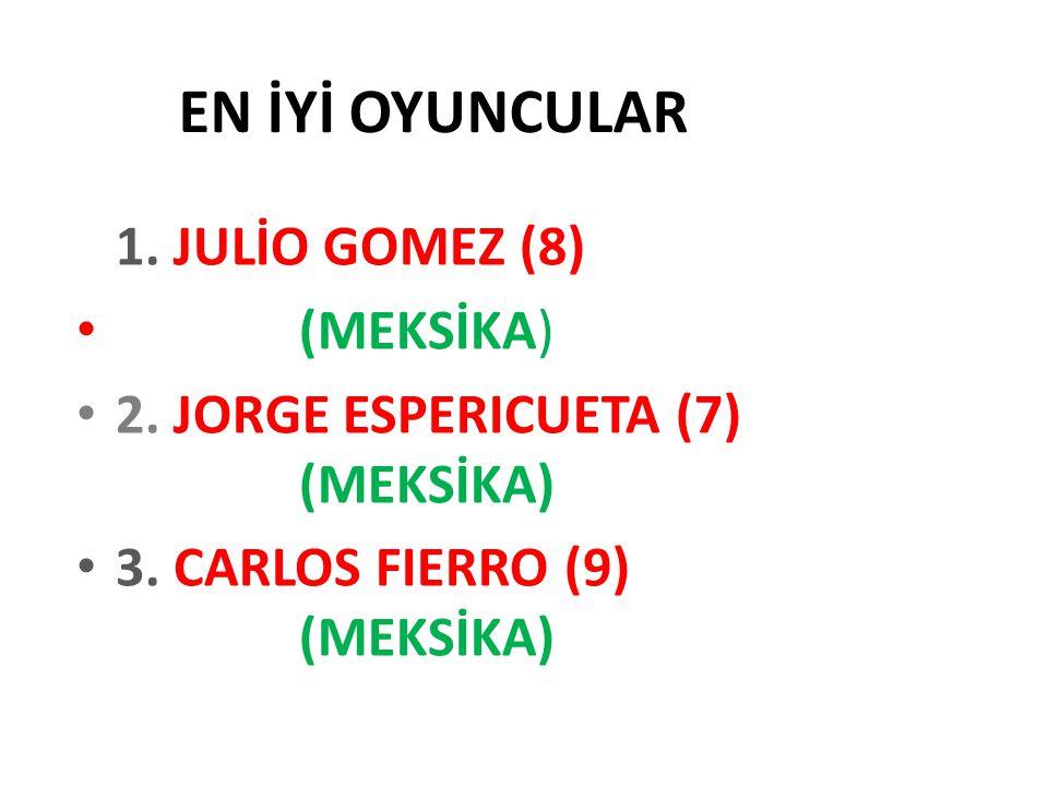 EN İYİ OYUNCULAR 1. JULİO GOMEZ (8) (MEKSİKA) 2. JORGE ESPERICUETA (7) (MEKSİKA) 3. CARLOS FIERRO (9) (MEKSİKA)