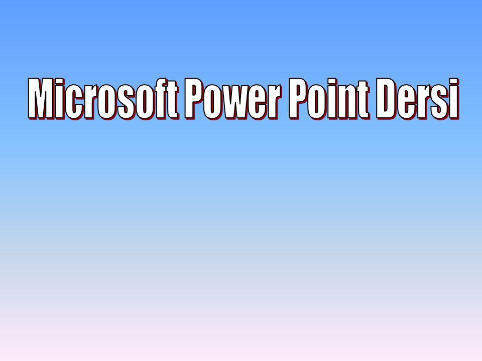 PowerPoint Standart Araç Çubuğu