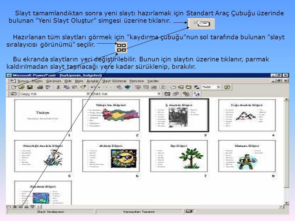 Normal sayfa görünümüne geçmek için kaydırma çubuğu nun sol tarafında bulunan slayt görünümü seçilir.