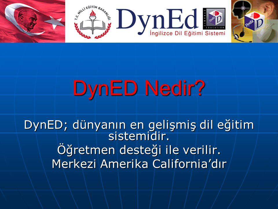 DynED Nedir.DynED; dünyanın en gelişmiş dil eğitim sistemidir.