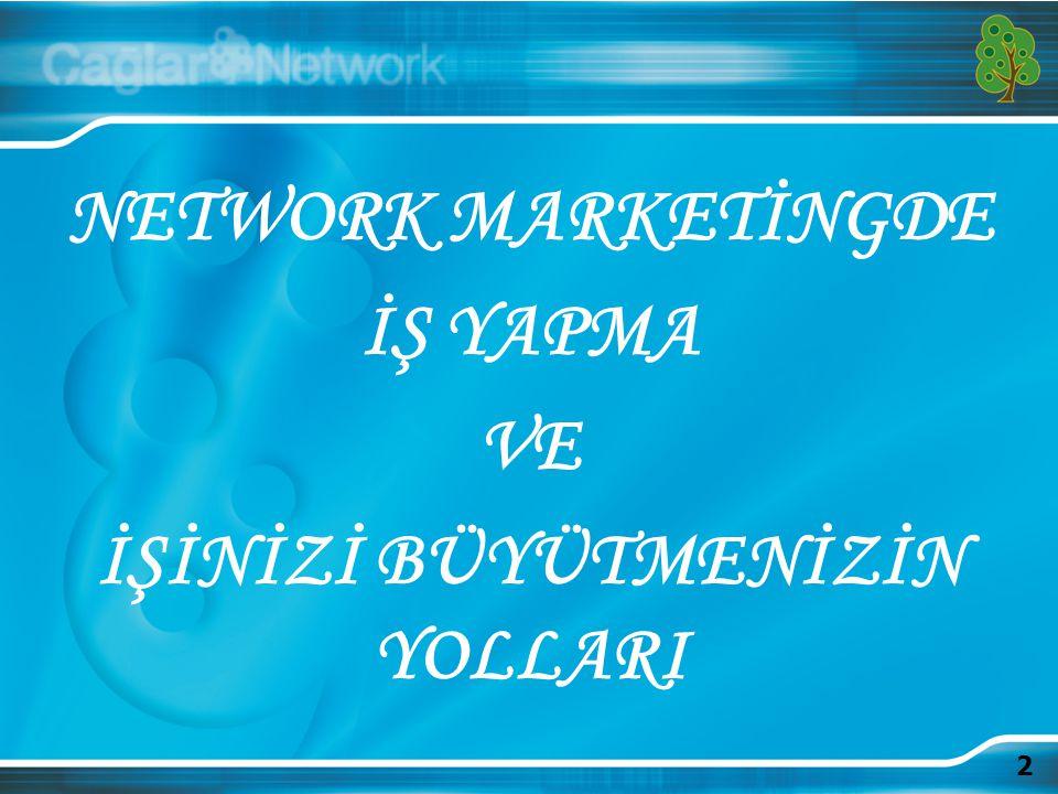 2 NETWORK MARKETİNGDE İŞ YAPMA VE İŞİNİZİ BÜYÜTMENİZİN YOLLARI