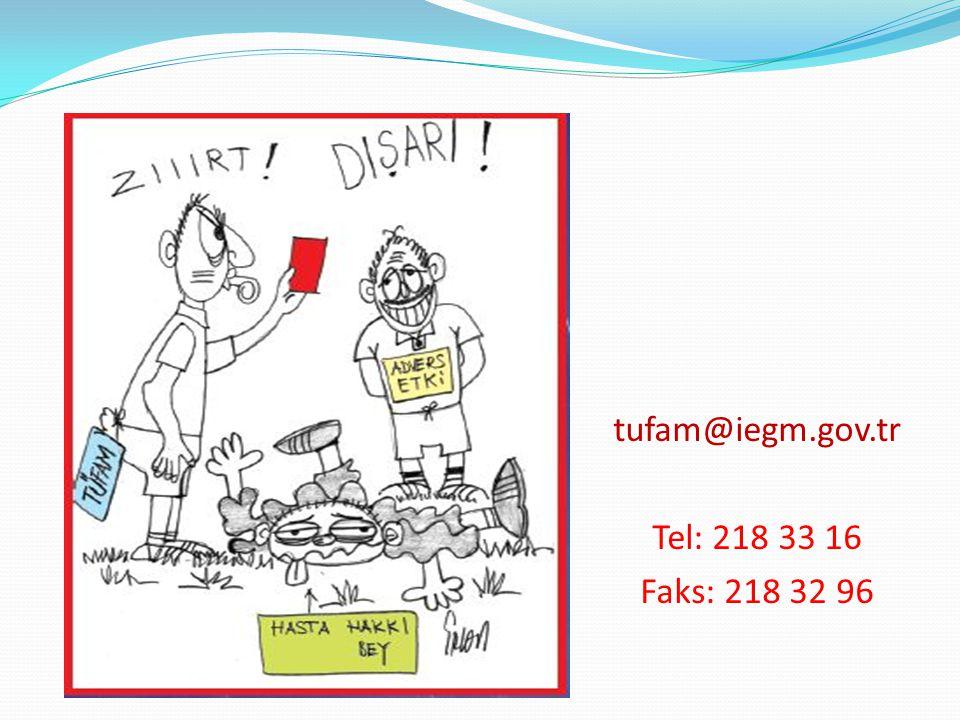 tufam@iegm.gov.tr Tel: 218 33 16 Faks: 218 32 96