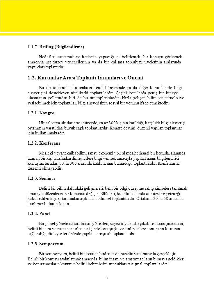 1.2.6.Kolokyum Bilimsel konuları tartışmak üzere yapılan akademik toplantılardır.