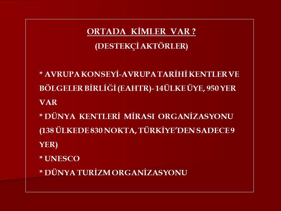 ORTADA KİMLER VAR .
