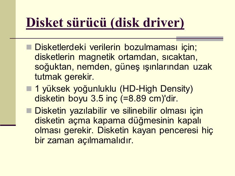Disketlerdeki verilerin bozulmaması için; disketlerin magnetik ortamdan, sıcaktan, soğuktan, nemden, güneş ışınlarından uzak tutmak gerekir.
