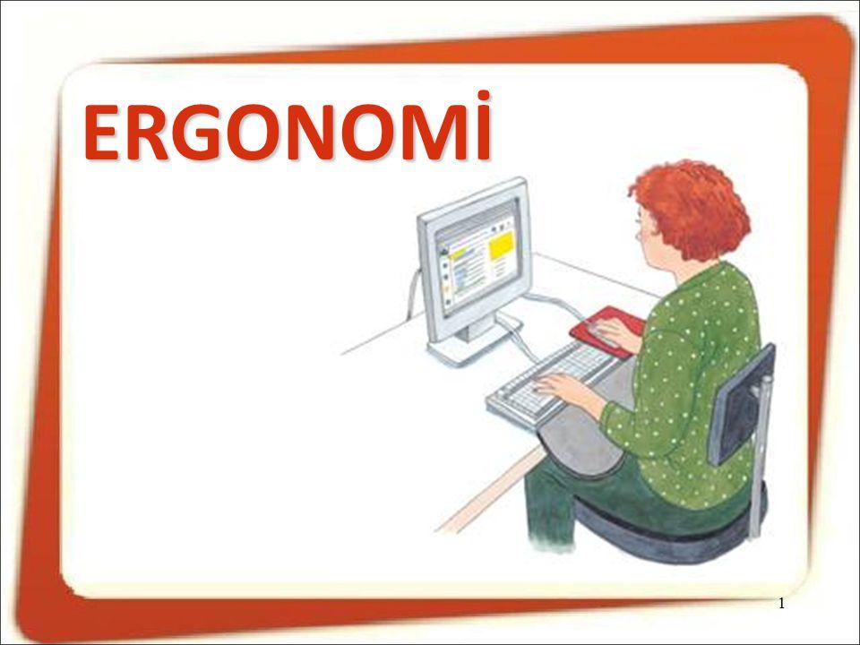 Monitörün kişiye uygun düzenlenmesi,  Ekranda çok küçük karakterler kullanılmamalıdır.