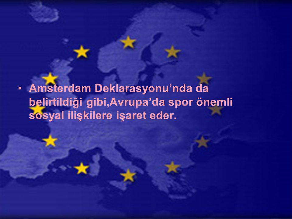 Avrupa Birliği'ne giden yolda ilk kilometre taşlarından biri olan ve 1957'de gerçekleşen Roma Antlaşması imzalandığında,spor konusuna hiç değinilmemişti.