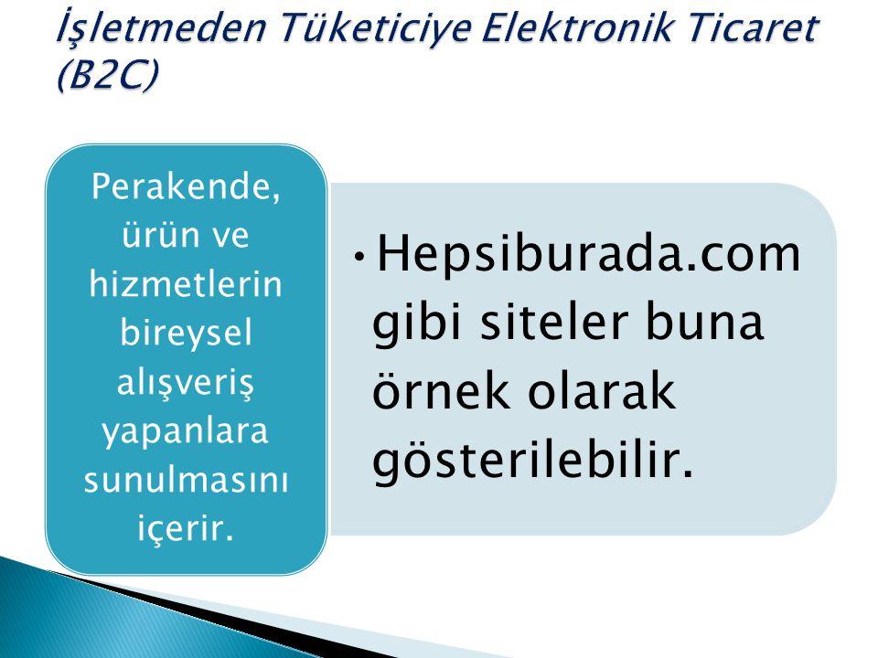 Hepsiburada.com gibi siteler buna örnek olarak gösterilebilir. Perakende, ürün ve hizmetlerin bireysel alışveriş yapanlara sunulmasını içerir.