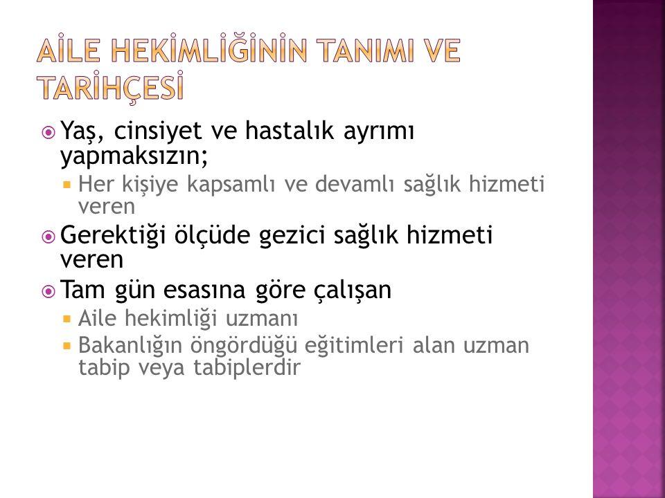  TÜRKİYE'DE AİLE HEKİMLİĞİNİN TARİHÇESİ VE GELİŞMESİ  2005 : Türkiye WONCA dünya konseyinde temsil edildi.