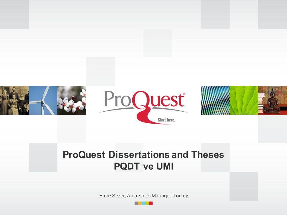 2 İçerik  UMI ve PQDT Tarihi  PQ hakkında  PQDT Araştırmacılar tarafınan nasıl ve neden kullanılıyor.