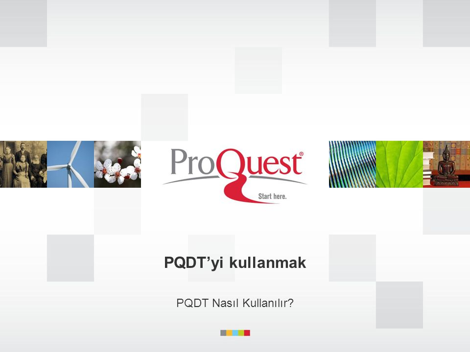 PQDT'yi kullanmak PQDT Nasıl Kullanılır?