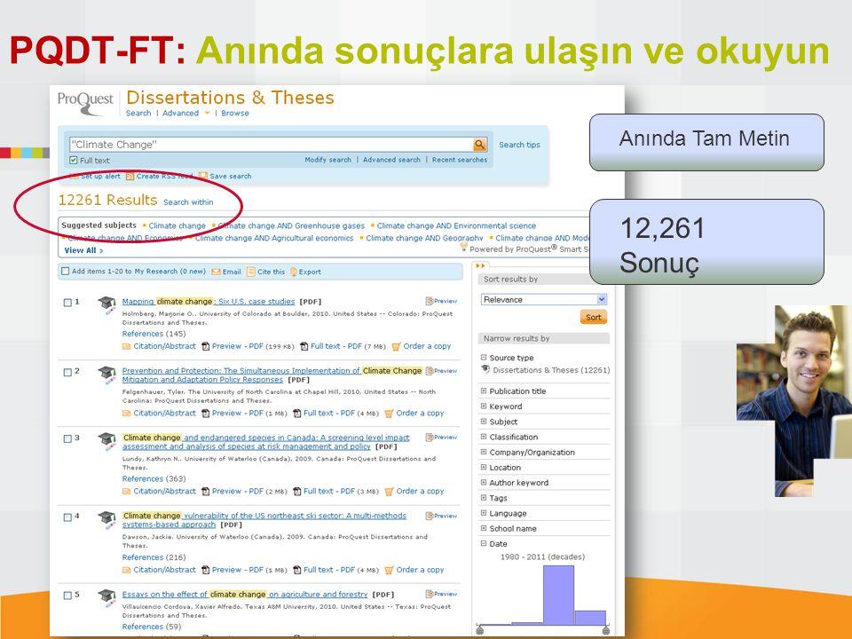 PQDT-FT: Anında sonuçlara ulaşın ve okuyun Anında Tam Metin 12,261 Sonuç