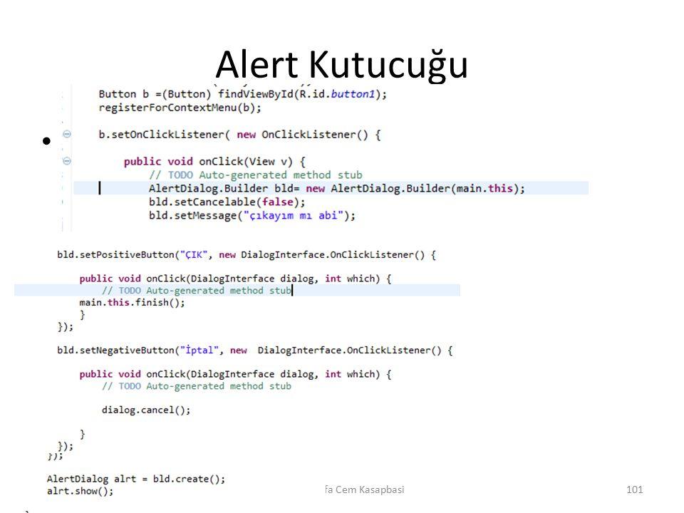 Alert Kutucuğu m Dr. Mustafa Cem Kasapbasi101