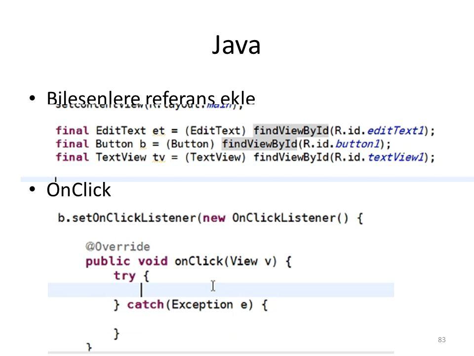 Java Bileşenlere referans ekle OnClick Dr. Mustafa Cem Kasapbasi83